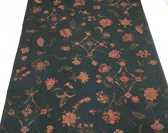 Vintage Japanese Kimono Silk Fabric, Sarasa, Chirimen, 3