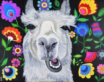 What does the Llama say?, 16x20 print