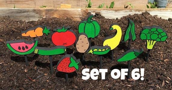 Garden Markers Vegetable Markers Fruit Markers Gardening | Etsy