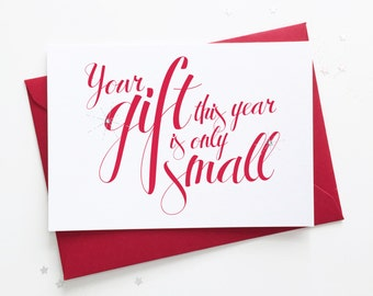 Christmas Pregnancy Reveal Card Announcement for Family / Mum / Dad / Auntie / Uncle / Husband / Partner / Boyfriend - Small Gift Baby Scan