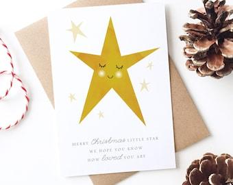 Baby Loss Christmas Card, New Baby, Stillborn, Miscarriage, Rememberance, Sympathy Card, Condolences, Little Star, Born Sleeping