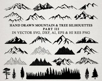 Hand Drawn Mountain Clipart