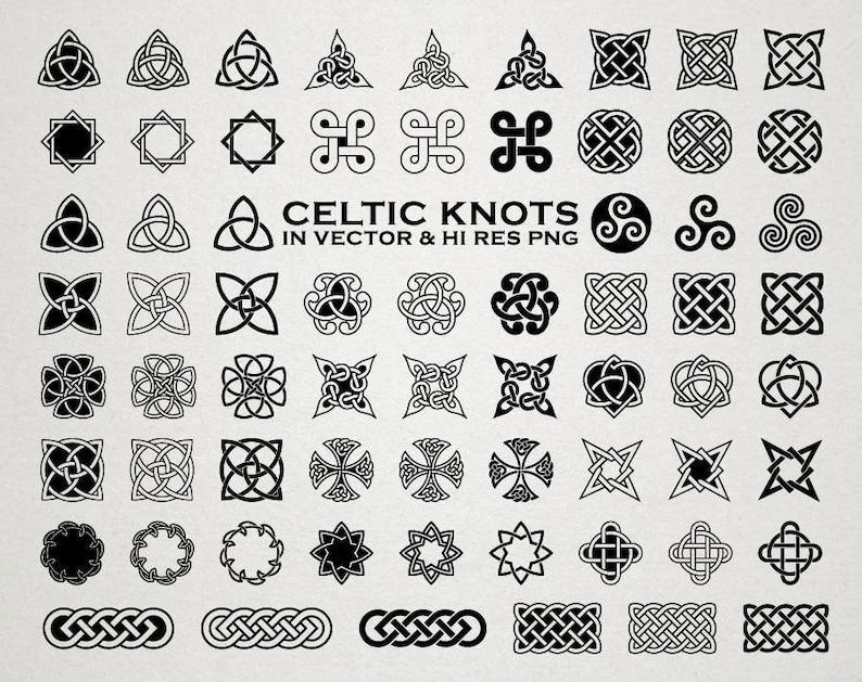 Celtic Knot Clip art Clipart Celtic Tattoo Clip Art Clipart | Etsy