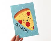 Pizza is Life - Pizza Art Print - Pizza - Food Print - Pizza Lover - Foodie - Cute Pizza Print - Food Pun - Funny Pizza Print