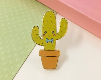 Cactus Pin - Cute Enamel Pin - Cactus Gifts - Plant Pin - Hard Enamel Pin - Cute Cactus Badge - Cactus Lover - Kawaii Succulent Pin