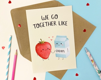 Perfect Match Card - First Anniversary Together - Sweet Anniversary Card - Best Friend Valentines Card - Paper Anniversary Card