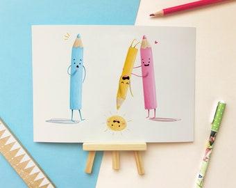 Baby Prints for Nursery - Kids Room Decoration - Cute Home Office Print - Children's Gift - Nursery Wall Art - Child's Room Art