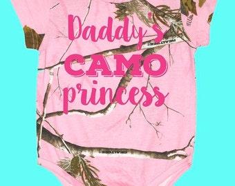 Camo Princess, Pink REALTREE Camo Bodysuit, REALTREE Camo Creeper, Hunting Princess, Camo baby outfit, Camo child shirt