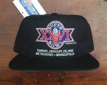 Vintage 90s Deadstock Buffalo Bills Super Bowl XXVI New Era 1992 Metrodome  Minneapolis Minnesota Snapback Hat Baseball Cap ac5e8cffa34e