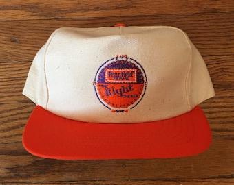 Vintage Minimal Pennfield Farms Chicken Snapback Hat Baseball Cap