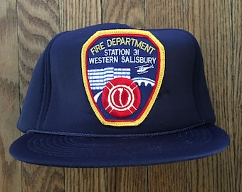 56448c4249d028 Vintage Western Salisbury Fire Department Allentown Pennsylvania Snapback  Hat Baseball Cap Patch