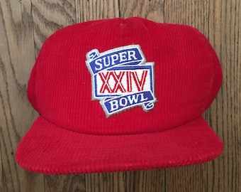 91e0e9fa Vintage 80s 90s Corduroy Super Bowl XXIV San Francisco 49ers NFL Snapback  Hat Baseball Cap * Made In USA