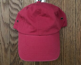 Vintage 90s Minimal First Boston Investment Bank Strapback Hat Baseball Cap * Made In USA