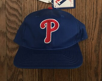 Vintage 90s Deadstock Philadelphia Phillies MLB Snapback Hat Baseball Cap 16b8ea1d0da4