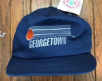ad892ff8c7c Vintage 90s Deadstock Georgetown Basketball Hoyas NCAA Strapback Hat  Baseball Cap