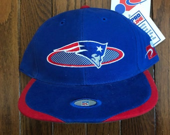 Vintage 90s Deadstock New England Patriots Sports Specialties NFL Strapback  Hat Baseball Cap 080f51ee0631