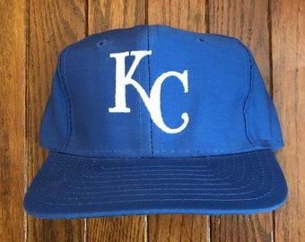 e6c3be611f8 Vintage 90s Kansas City Royals MLB Snapback Hat Baseball Cap