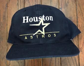667b9d5e Vintage 90s Houston Astros MLB Snapback Hat Baseball Cap