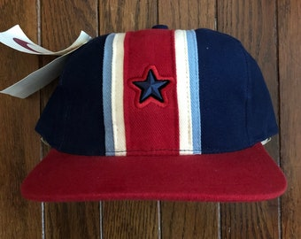 1e34c0534a59a Vintage 90s Deadstock Nike Swoosh Strapback Hat Baseball Cap   Made In USA