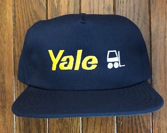 799f6789a07 Vintage Yale Forklift Dealer Mesh Trucker Hat Snapback Hat Baseball Cap    Made In USA