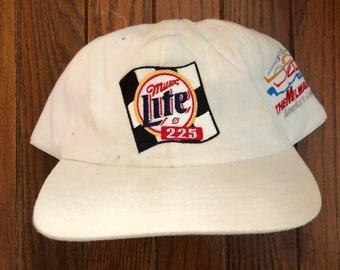 cc0cd9b748d Vintage 90s Miller Lite Beer Strapback Hat Baseball Cap