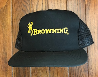 bed19658d68 best vintage browning arms company mesh trucker hat snapback hat baseball  cap patch 619cf d19bd