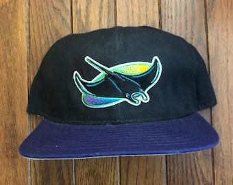 c0f008df9b8 Vintage 90s Tampa Bay Devil Rays New Era Pro Model MLB Snapback Hat  Baseball Cap