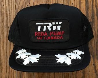 39241139f1cfb Vintage TRW Canada Mesh Trucker Hat Snapback Hat Baseball Cap Patch