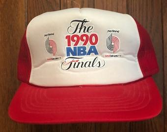 df8cbfe568e Vintage 90s Portland Trail Blazers Basketball NBA Mesh Trucker Hat Snapback  Hat Baseball Cap