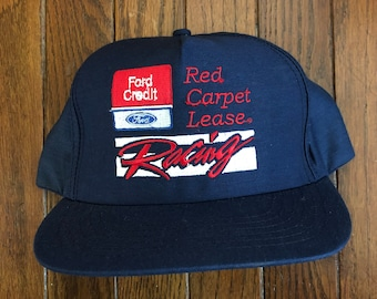 Vintage Ford Racing Snapback Hat Baseball Cap   Made In USA d7b6bee55207