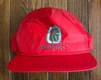 6fa56d7e6a3 Vintage 90s The Ohio State University NCAA Snapback Hat Baseball Cap