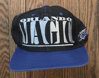Vintage 90s Orlando Magic NBA Snapback Hat Baseball Cap