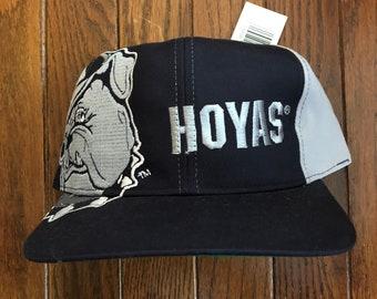 2f9960c752b Vintage 90s Deadstock Georgetown Hoyas NCAA Snapback Hat Baseball Cap