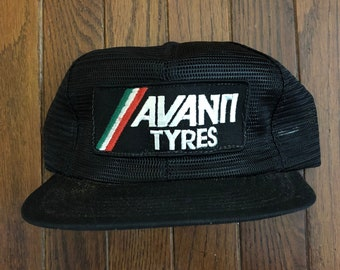 9320880d510 Vintage Avanti Tyres Full Mesh Trucker Hat Snapback Hat Baseball Cap Patch    Made In USA