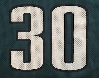 30f6c2a5e85 Vintage 90s Charlie Garner  30 Philadelphia Eagles NFL Logo Athletic Jersey  Size - XL