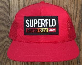 d55216af6ed Vintage Texaco Motor Oil Gas Station Mesh Trucker Hat Snapback Hat Baseball  Cap Patch