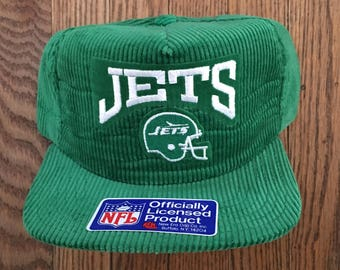b28bcc3bd ... best price vintage 90s corduroy deadstock new york jets nfl new era pro  design snapback hat