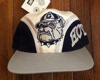 bce9b9d12c2 Vintage 90s Deadstock Georgetown Hoyas NCAA Snapback Hat Baseball Cap