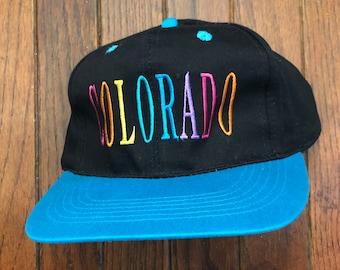 2ceccf2ea74252 Vintage 80s 90s Colorado Vacation Tourist Travel Snapback Hat Baseball Cap
