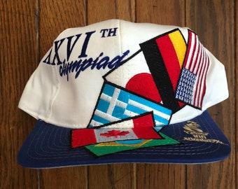 458ac6bf0c5 Vintage 90s Starter Hat Summer Olympics Snapback Hat Baseball Cap