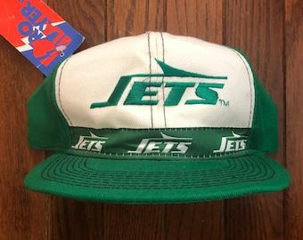 Vintage 90s Deadstock New York Jets Pro Player NFL Snapback Hat Baseball Cap 398d72c4b