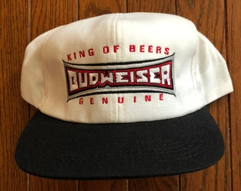 Vintage 80s 90s Bud Budweiser Beer Snapback Hat Baseball Cap   Made In USA 74672a095cf5