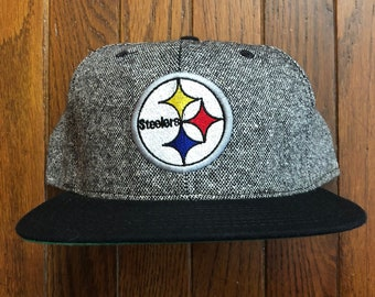 ... free shipping vintage 90s deadstock pittsburgh steelers nfl new era  snapback hat baseball cap made in 469f398d8