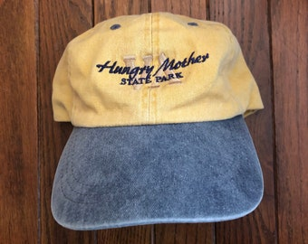 c19a635875a62 Vintage 90s Minimal Hungry Mother State Park Unstructured Strapback Hat  Baseball Cap