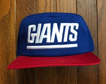 a5766c95 Vintage 80s 90s Deadstock New York Giants New Era NFL Snapback Hat Baseball  Cap * Made In USA