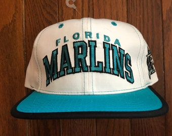 Vintage 90s Deadstock Starter Arch Florida Marlins MLB Snapback Hat  Baseball Cap da46189ad
