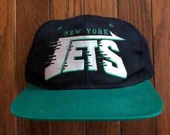 Vintage 90s New York Jets NFL Snapback Hat Baseball Cap 6115e4cfa