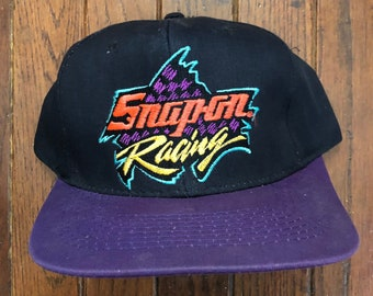 779580636c356b Vintage 90s Snap On Racing Snapback Hat Baseball Cap