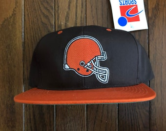 Vintage 90s Deadstock Cleveland Browns Sports Specialties NFL Snapback Hat  Baseball Cap b8bdc8d246fb