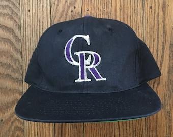 the latest 87a52 fd812 ... clearance vintage 90s colorado rockies mlb snapback hat baseball cap  272ca 6894e
